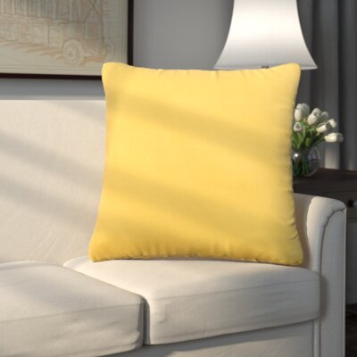 Uniontown Prefilled Indoor/Outdoor Fabric Throw Pillow Color: Daffodil