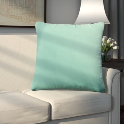 Uniontown Prefilled Outdoor Throw Pillow Color: Aqua