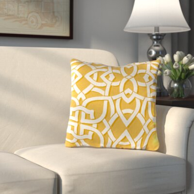 Athens Outdoor Throw Pillow Color: Greystone Daffodil