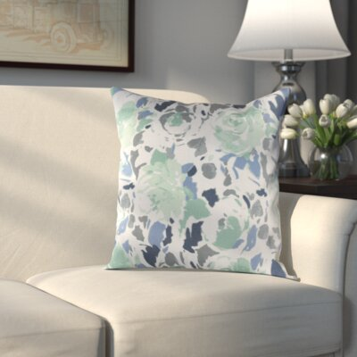 Hansa Pillow Cover Size: 18 H x 18 W x 1 D, Color: Blue/Green