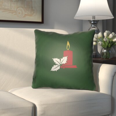 Westlake Indoor/Outdoor Throw Pillow Size: 18 H x 18 W x 4 D, Color: Green / Red