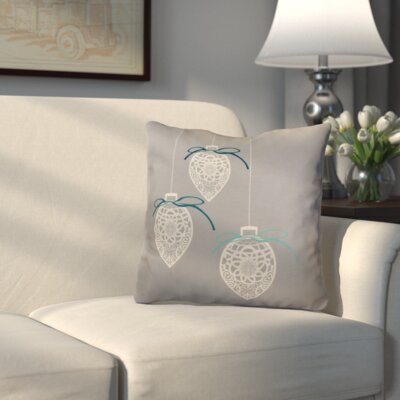 Decorative Holiday Geometric Print Outdoor Throw Pillow Size: 20 H x 20 W, Color: Gray