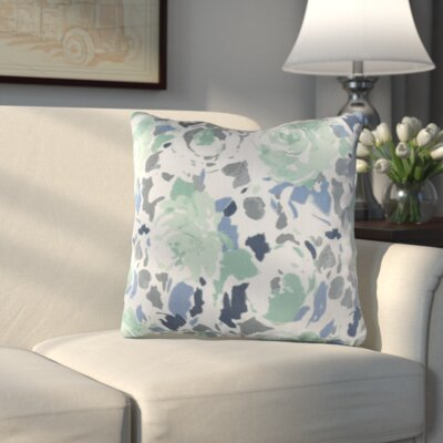 Hansa Throw Pillow Size: 20 H x 20 W x 4 D, Color: Blue/Green