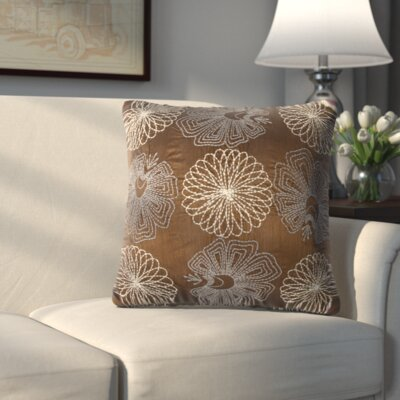Crewe Embroidered Throw Pillow (Set of 2) Color: Copper