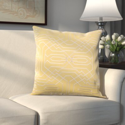 Halton Pillow Cover Size: 20 H x 20 W x 0.25 D, Color: Yellow