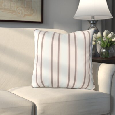 Haysville Nantucket Outdoor Throw Pillow Size: 26 H x 26 W x 4 D, Color: Gray/Light Blue