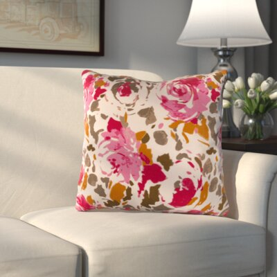 Hansa Throw Pillow Color: Red/Pink, Size: 22
