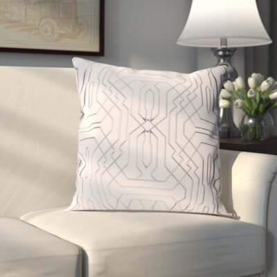 Meader Pillow Cover Size: 18 H x 18 W x 1 D, Color: Gray