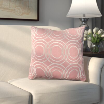 Ridgewood Throw Pillow Size: 20 H x 20 W x 4 D, Color: Pale Pink/Cream, Fill Material: Down