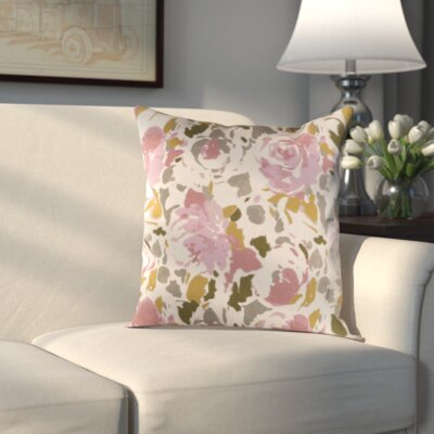 Hansa Pillow Cover Size: 18 H x 18 W x 1 D, Color: Brown/Pink