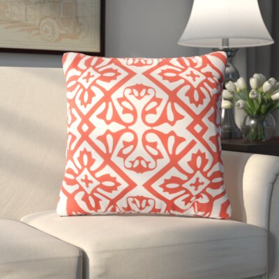 Haysville Modern Moroccan Outdoor Throw Pillow Size: 26 H x 26 W x 4 D, Color: Coral