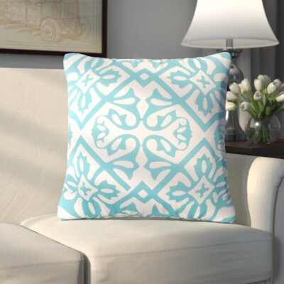 Haysville Modern Moroccan Outdoor Throw Pillow Size: 26 H x 26 W x 4 D, Color: Light Blue