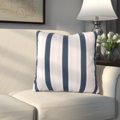 Haysville Nantucket Outdoor Throw Pillow Size: 18 H x 18 W x 4 D, Color: Cobalt/Sky Blue