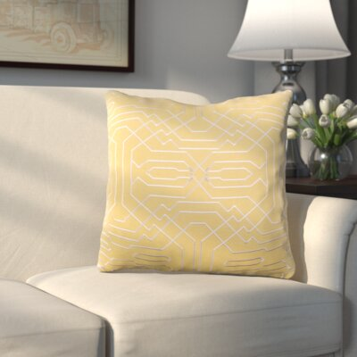 MeaderThrow Pillow Color: Yellow