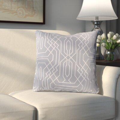 Meader Throw Pillow Color: Medium Gray/White