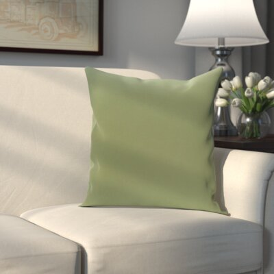 Cochran Solid Decorative Outdoor Pillow Color: Edamame, Size: 18 H x 18 W x 1 D
