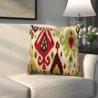 George Linen Throw Pillow Color: Jubilee