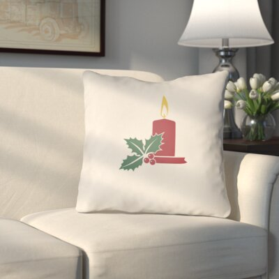 Westlake Indoor/Outdoor Throw Pillow Size: 18 H x 18 W x 4 D, Color: White / Red