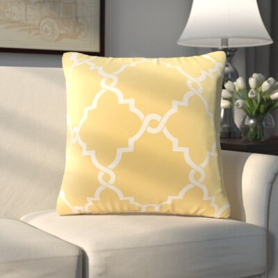 Allard Fretwork Print Throw Pillow Color: Yellow