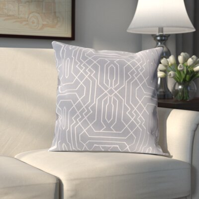 Meader Pillow Cover Size: 20 H x 20 W x 0.25 D, Color: Purple