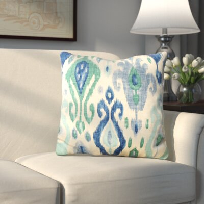 George Linen Throw Pillow Color: Turquoise