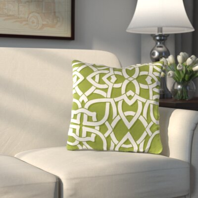 Athens Outdoor Throw Pillow Color: Greystone Willow