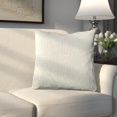 Meader Throw Pillow Color: Mint/White