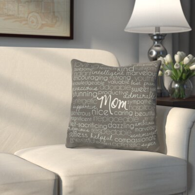 Callingwood Throw Pillow Size: 16 H x 16 W, Color: December Sky