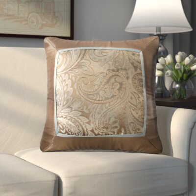 Pokanoket Silk Throw Pillow Color: Brown