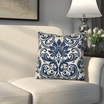 Hazlewood Throw Pillow Color: Blue, Size: 18 H x 18 W x 3 D