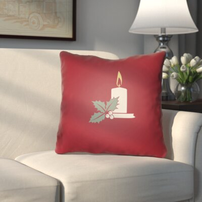 Westlake Indoor/Outdoor Throw Pillow Size: 18 H x 18 W x 4 D, Color: Red / White