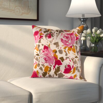 Hansa Pillow Cover Size: 18 H x 18 W x 1 D, Color: Red/Pink