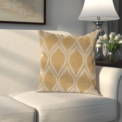 Rye 100% Linen Throw Pillow Cover Size: 18 H x 18 W x 0.25 D, Color: MetallicBrown