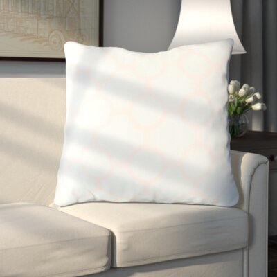 Haysville Smooth Circles Outdoor Throw Pillow Size: 26 H x 26 W x 4 D, Color: Sky Blue