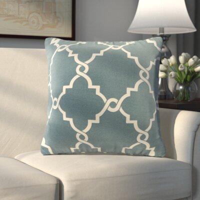 Allard Fretwork Throw Pillow Color: Blue