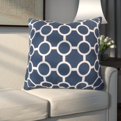 Haysville Smooth Circles Outdoor Throw Pillow Size: 26 H x 26 W x 4 D, Color: Cobalt