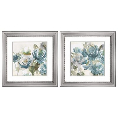 Alcott Hill Secret Garden2 Piece Framed Painting Print Set