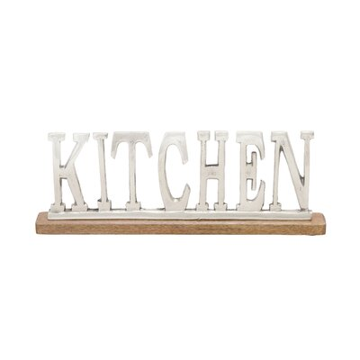 Silver  Kitchen Letter Block