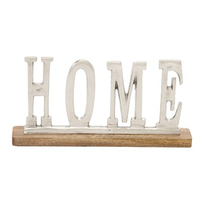 Silver Home Letter Block