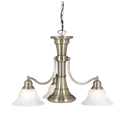 Omaha 4-Light Shaded Chandelier Finish: Antique Brass