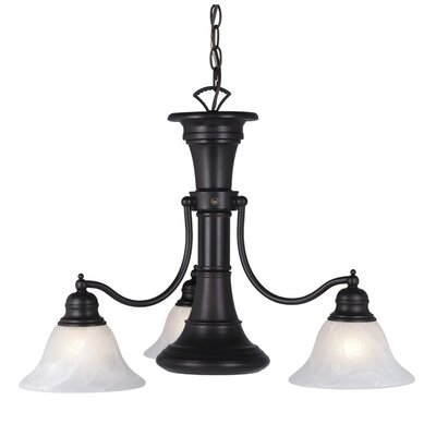 Omaha 4-Light Shaded Chandelier Finish: Oil Burnished Bronze