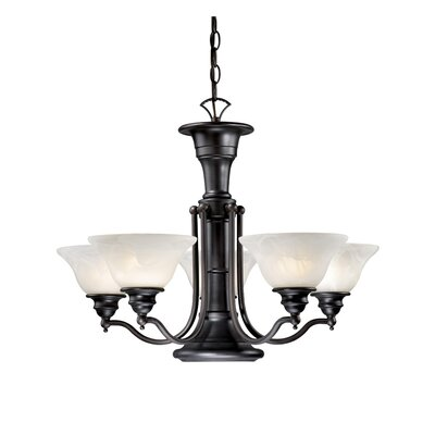 Omaha Traditional 6-Light Shaded Chandelier Finish: Oil Burnished Bronze