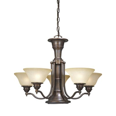 Omaha Traditional 6-Light Shaded Chandelier Finish: Royal Bronze