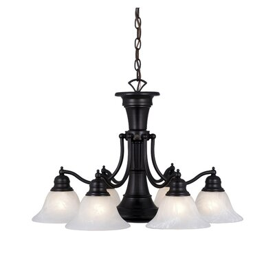 Omaha 6-Light Shaded Chandelier Finish: Oil Burnished Bronze