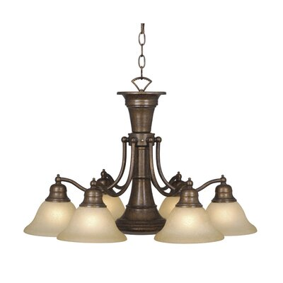 Omaha 6-Light Shaded Chandelier Finish: Royal Bronze