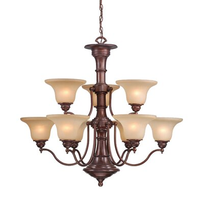 Omaha 9-Light Shaded Chandelier Finish: Royal Bronze