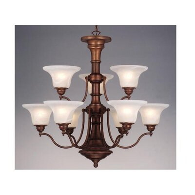 Omaha 9-Light Shaded Chandelier Finish: Weathered Patina