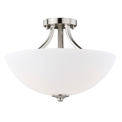 Orion Traditional 3-Light Semi Flush Mount