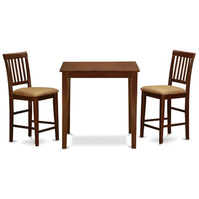 Givens 3 Piece Counter Height Bistro Set Finish: Mahogany