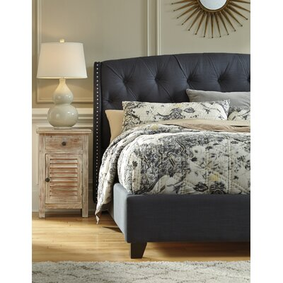 Linden Upholstered Panel Headboard Size: Queen